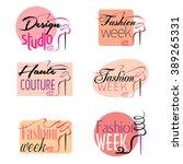fashion week design studio... | Shutterstock .eps vector #389265331