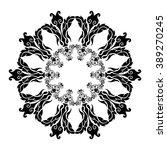 mandala pattern on a white...   Shutterstock .eps vector #389270245