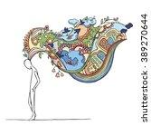 human inner world. fantasy.... | Shutterstock .eps vector #389270644