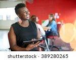 confident female designer... | Shutterstock . vector #389280265