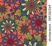 hand drawn flower mandala for... | Shutterstock .eps vector #389282569