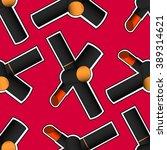 red lipstick seamless pattern.... | Shutterstock .eps vector #389314621
