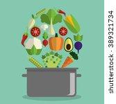 organic food design  | Shutterstock .eps vector #389321734