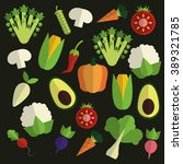 organic food design  | Shutterstock .eps vector #389321785