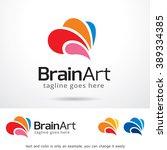 brain art logo template design...   Shutterstock .eps vector #389334385
