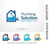 plumbing solution logo template ... | Shutterstock .eps vector #389337559