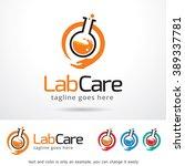 lab care logo template design... | Shutterstock .eps vector #389337781