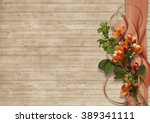 vintage background with spring... | Shutterstock . vector #389341111
