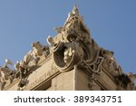 historical building with grey... | Shutterstock . vector #389343751