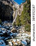 Lower Yosemite Fall In Winter...
