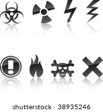 warning icon collection.... | Shutterstock .eps vector #38935246