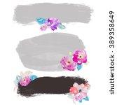 watercolor flower background.... | Shutterstock . vector #389358649