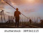 construction worker on...   Shutterstock . vector #389361115
