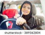 arab women driving car | Shutterstock . vector #389362804