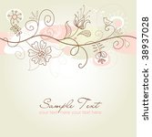 floral background  seamless... | Shutterstock .eps vector #38937028