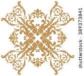 premium gold vintage baroque... | Shutterstock .eps vector #389373841