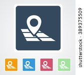 square flat buttons icon of map ...