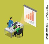 business finance with isometric ...   Shutterstock .eps vector #389383567