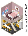 vector isometric house  | Shutterstock .eps vector #389394469