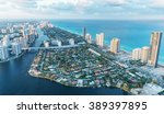 Wonderful Skyline Of Miami At...