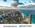 wonderful skyline of miami at... | Shutterstock . vector #389397949
