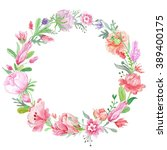 Romantic Meadow Floral Wreath ...