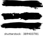 ink brush line collection .... | Shutterstock .eps vector #389403781