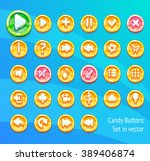 game candy buttons set in vector