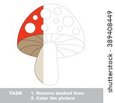 Toadstool In Vector Colorful T...