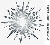 black sunburst vector  hipster... | Shutterstock .eps vector #389412361