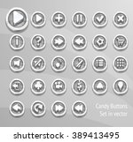 candy buttons set in vector