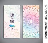 wedding card or invitation.... | Shutterstock .eps vector #389430271