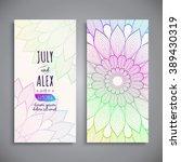 wedding card or invitation.... | Shutterstock .eps vector #389430319