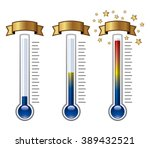 vector goal thermometers at... | Shutterstock .eps vector #389432521