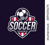 soccer logos  american logo... | Shutterstock .eps vector #389435674