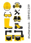 set of protective equipment... | Shutterstock .eps vector #389451259