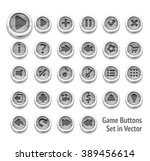 game buttons set isolated on...