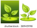 green plant with greater leaves ... | Shutterstock .eps vector #38945998