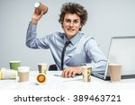 mad tired manager   modern... | Shutterstock . vector #389463721