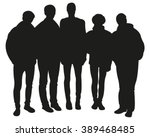 friends silhouettes | Shutterstock .eps vector #389468485