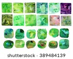watercolor frames and shapes ... | Shutterstock . vector #389484139