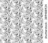 vector seamless monochrome... | Shutterstock .eps vector #389488924