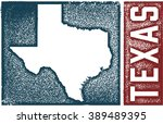 vintage texas state sign | Shutterstock .eps vector #389489395