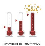 vector clipart of goal... | Shutterstock .eps vector #389490409