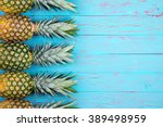four large ripe pineapples...