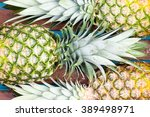 Three Large Pineapple Fruits...