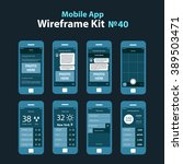 mobile wireframe app ui kit 40. ...