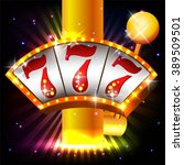 win big  casino vector... | Shutterstock .eps vector #389509501