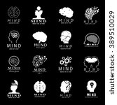 mind icons set   isolated on... | Shutterstock .eps vector #389510029