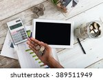 finance concept photo with... | Shutterstock . vector #389511949